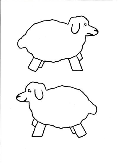 lamb cut out template - lamb face template